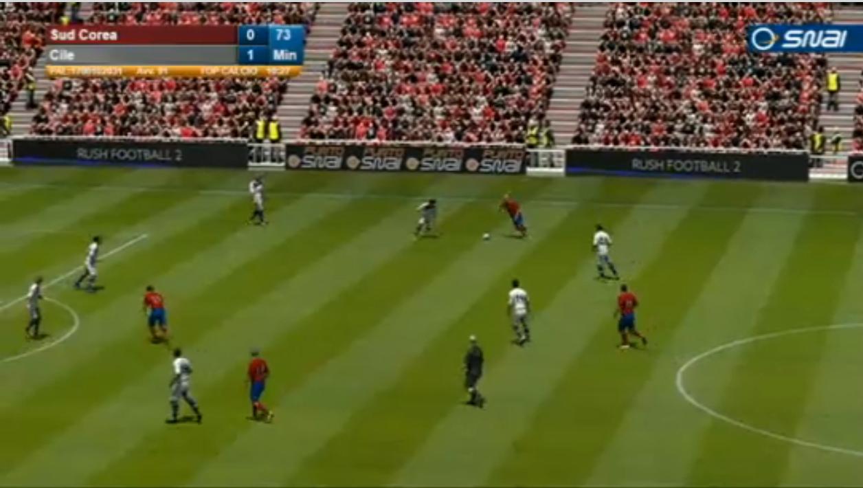 screenshot calcio virtuale snai